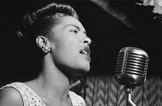 Jazz songbird Billie Holiday
