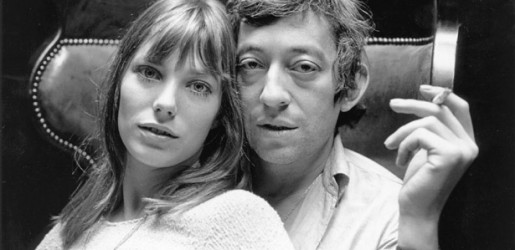 French lounge icon Serge Gainsbourg with girlfriend Jane Birkin