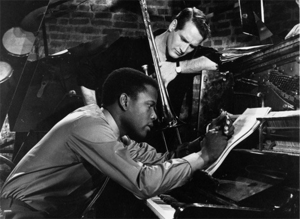 Paul Newman and Sidney Poitier in the 1961 movie Paris Blues
